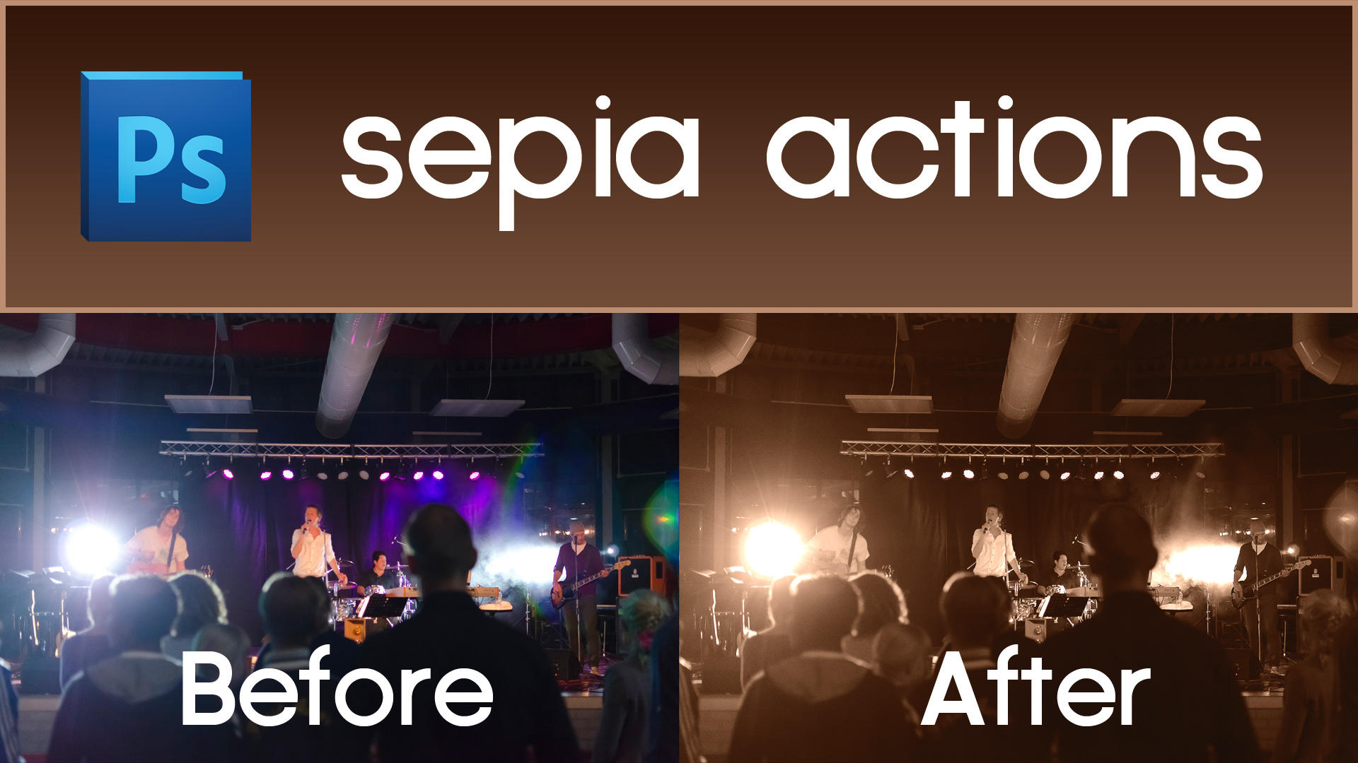 Download Free Action Old Style Sepia Effect