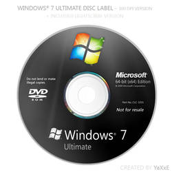 Windows 7 Ultimate Disc by yaxxe