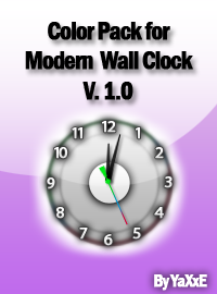 Color Pack - Modern Wall Clock by yaxxe