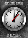 Metallic Clock Flash
