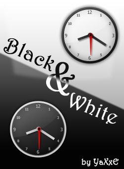 Black and White Elegant Clock by yaxxe