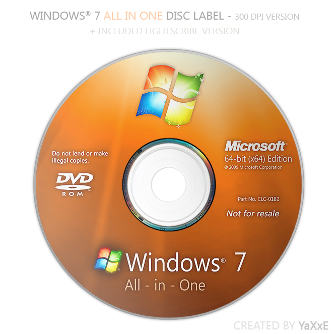 Windows recovery media for windows 7 products