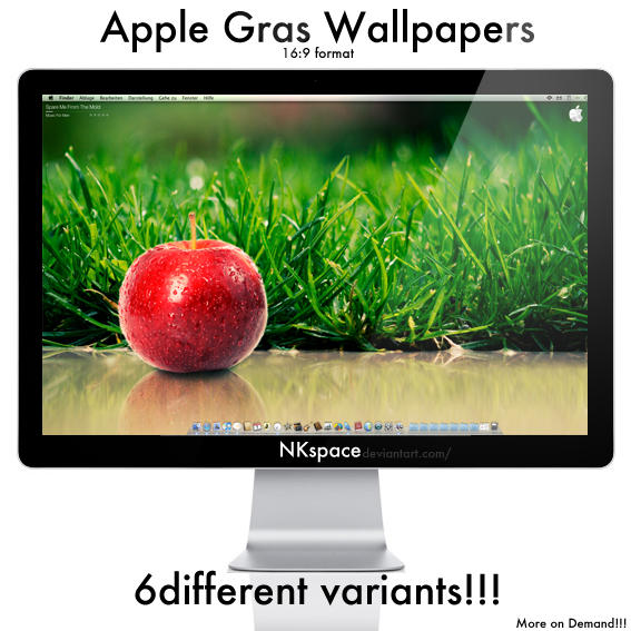 Apple Grass Wallpaper by NKspace