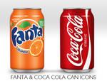 Coca Cola and Fanta Can Icon
