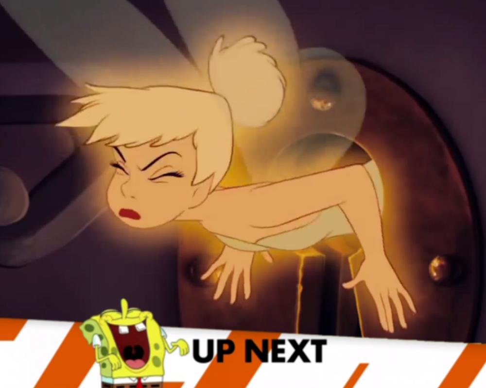 Spongebob Laughed as Tinkle Bell Gets Stuck by lileehilee