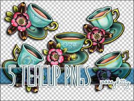 5 Teacup PNG Pack