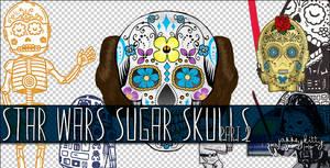 Star Wars Sugar Skull PNG Pack 2