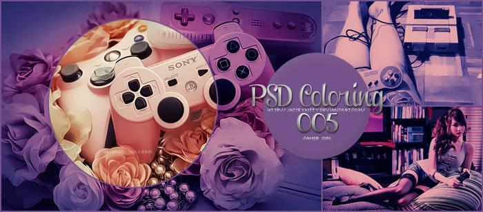Gamer Girl -PSD Coloring
