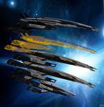 Models of Normandy SR1, SR2 Cerberus. SR2 Alliance
