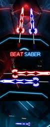 Erza Scarlet - Crystal Swords for Beat Saber by Melllin