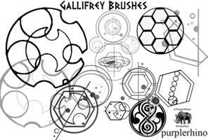 Gallifrey Brushes by purplerhino
