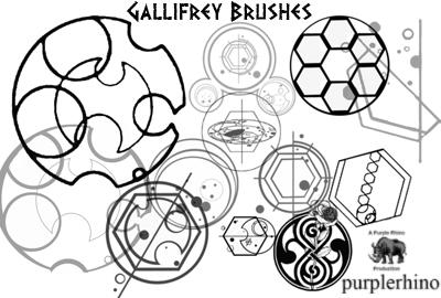 Gallifrey Brushes by purplerhino