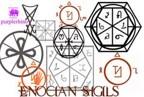Enochian Sigils by purplerhino