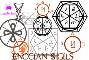 Enochian Sigils By Purplerhino On Deviantart