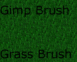 Gimp Grass Brush by WoodyChev