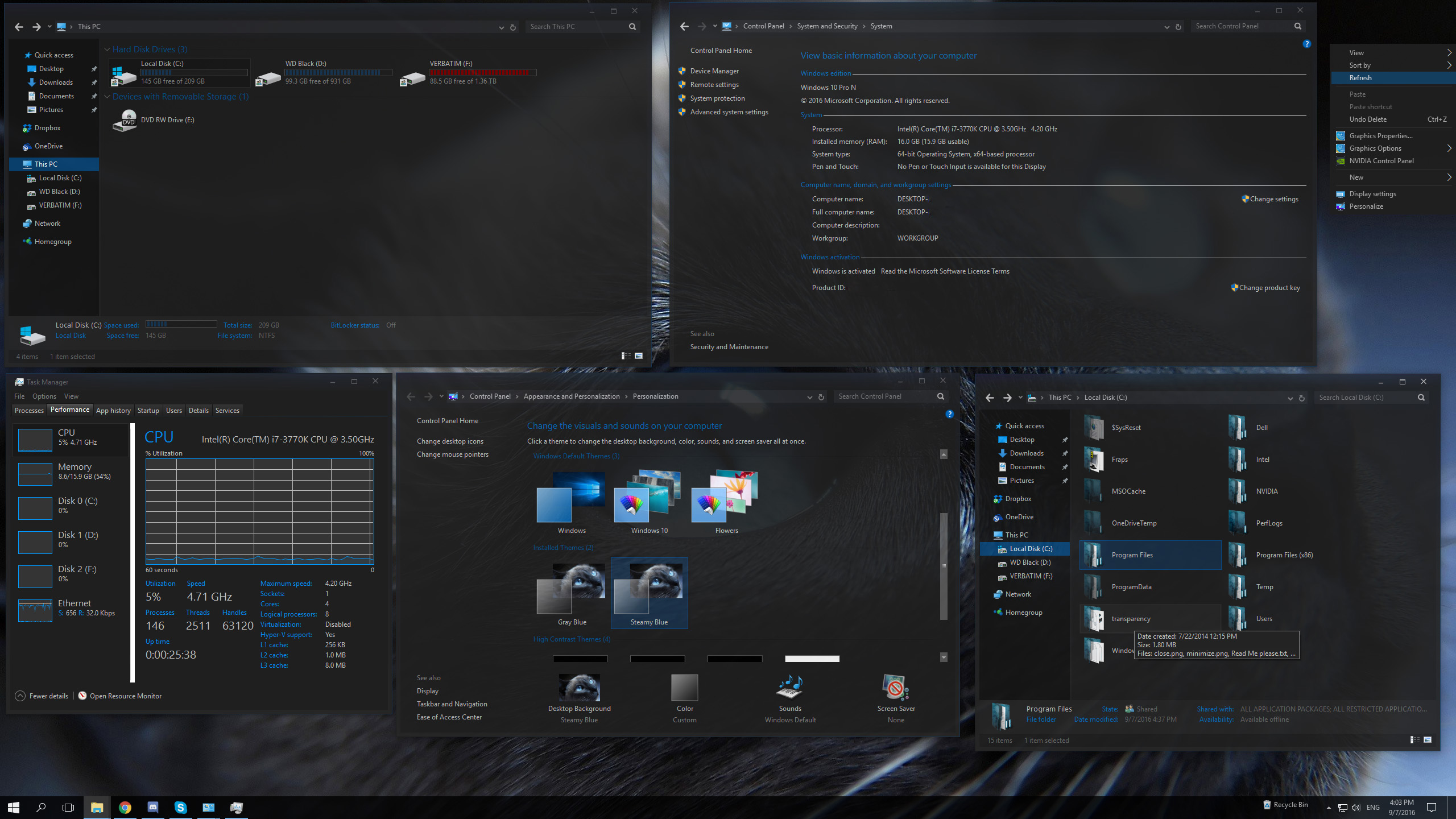 SteamyBlue Windows10 Theme by F3niX69 on DeviantArt
