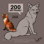 Premade Chibi Fox Lineart by HannasArtStudio