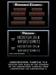 Ghostbusters Nametag