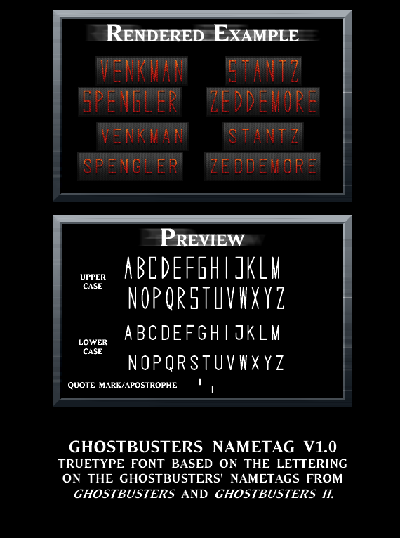Ghostbusters Nametag by kingpin1055