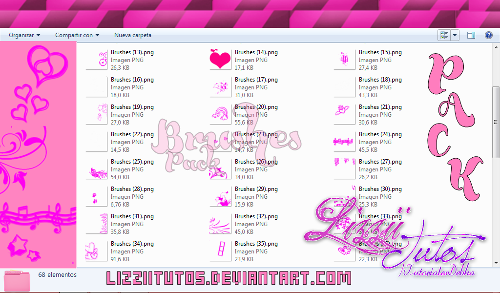 +Pack Brushes by LizziiTutos