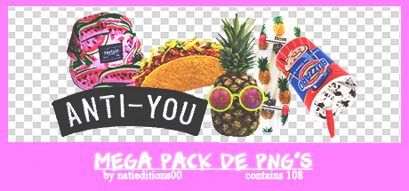 + Mega Pack de png's  regalito por los 900  by natieditions00