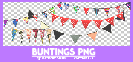 + Buntings Png by natieditions00