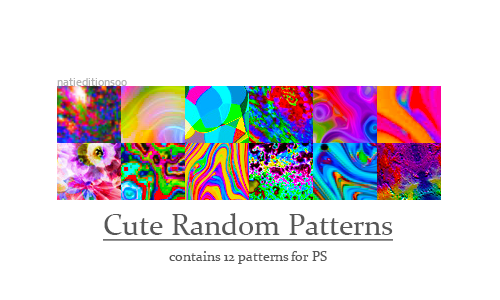 + Cute Random Patterns |12| by natieditions00