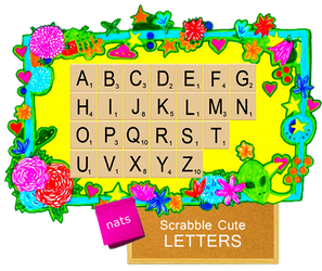 +Scrabble Cute Letters by natieditions00