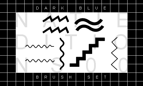 + DARK BLUE |Brush Set||6| by natieditions00