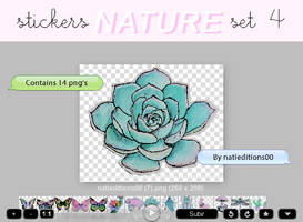 + NATURE  STICKERS SET 4  by natieditions00