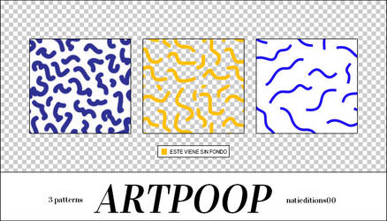 + ARTPOOP PATTERNS |3| by natieditions00