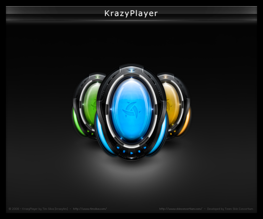KrazyPlayer for Winamp Modern by timsilva