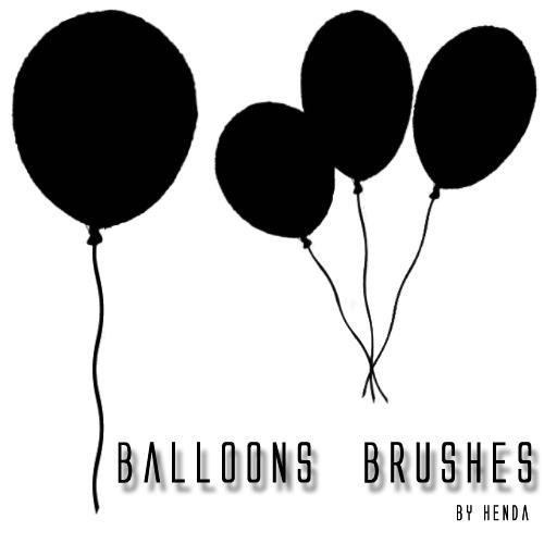 Balloon Brushes by Henda-Stock