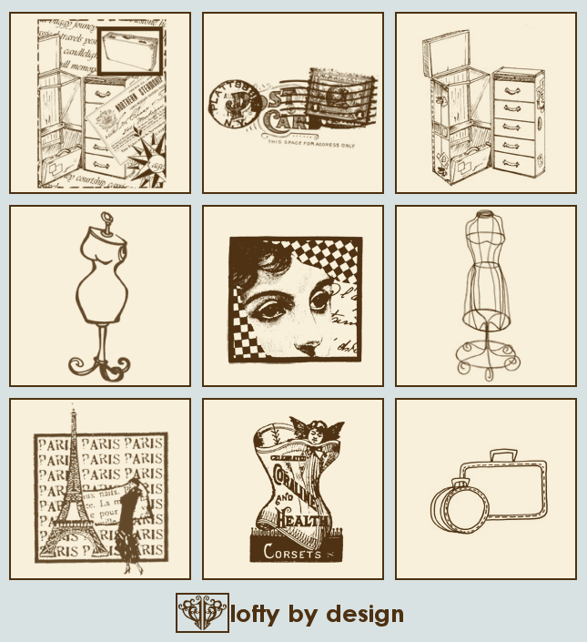 Vintage Travel PSP 9 Brushes by LoftybyDesign