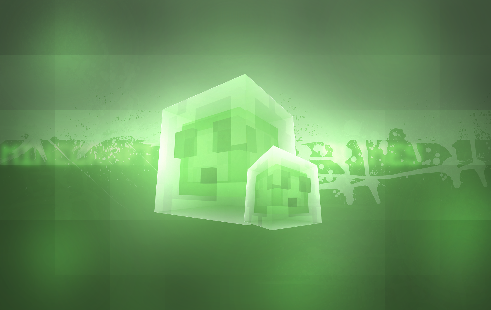 Minecraft 'Slimes' wallpaper by MikasDA