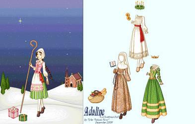Adaline: A Christmas Kiss Doll by sakurafairy