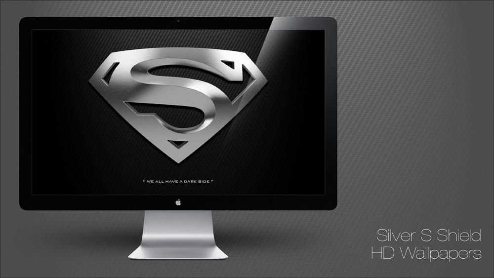 Superman - Silver S Shield HD Wallpapers by manuphilip