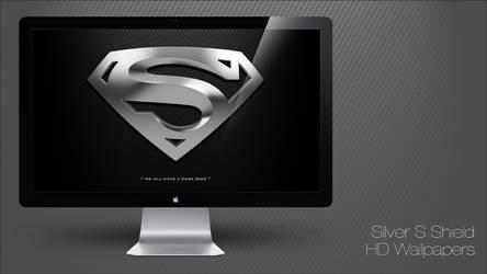 Superman - Silver S Shield HD Wallpapers