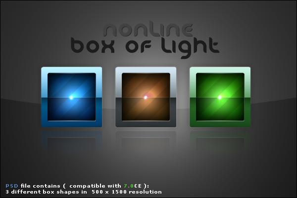 Box of Light PSD file