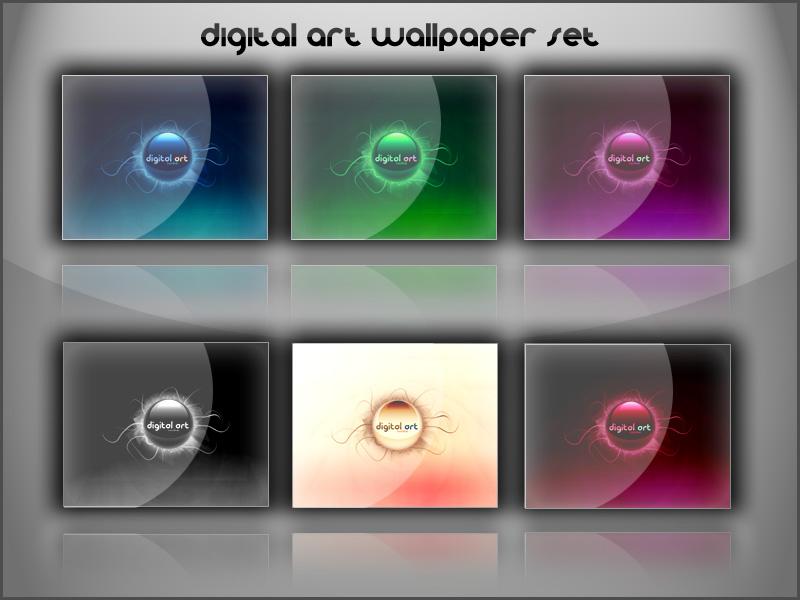 Digital Art Wallpaper Set