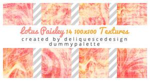 Lotus Paisley: 14 Icon Textures