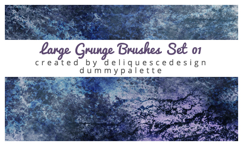 Grunge 01 Photoshop Brushes by deliquescedesign