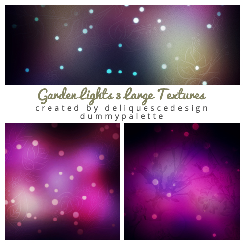 Garden Lights Large Textures by deliquescedesign