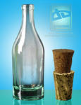 clear rum bottle png by 35-Elissandro