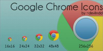 Google Chrome Icons by devlindd