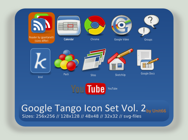 Google Tango Icon Set Vol. 2 by Unit66