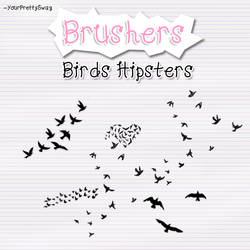 Brushers Birds Hipsters by YourPrettySwag
