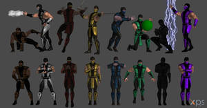 Mortal Kombat Ninja Poses
