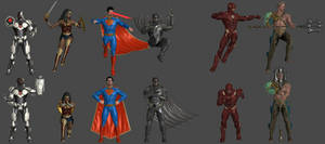 Justice League Pose Pack