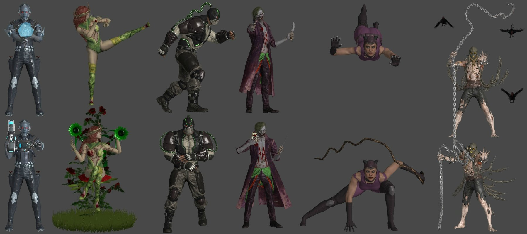 DC Villains Pose Pack 1 by WildGold